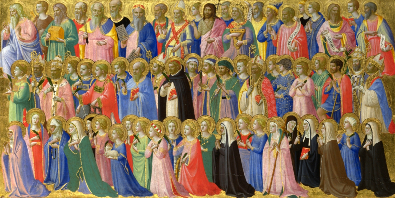 The Forerunners of Christ with Saints and Martyrs (Fra Angelico)